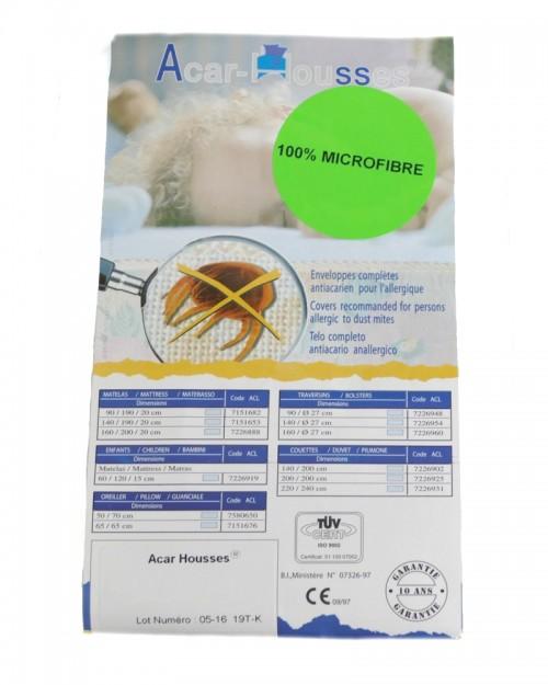 Housse de traversins anti-acariens microfibre 160x270cm